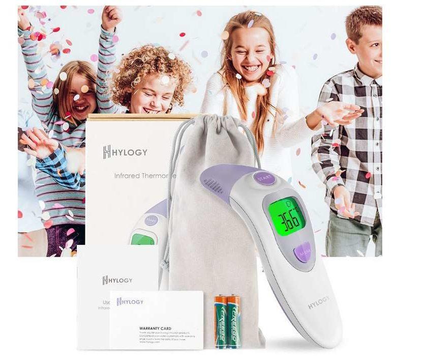 thermomètre frontal et oreilles infrarouge pour bébé Hylogy