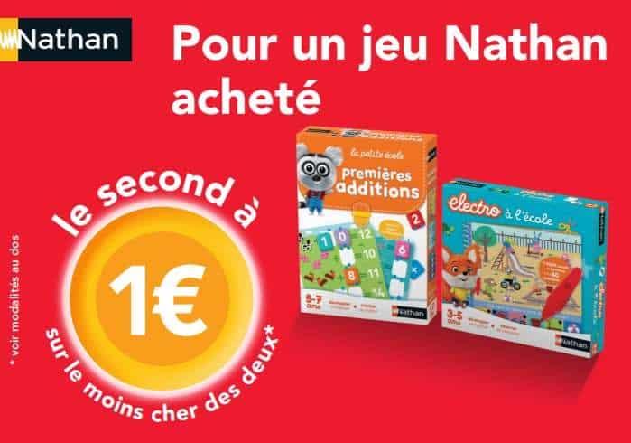 1 jeu Nathan acheté = le second à 1€
