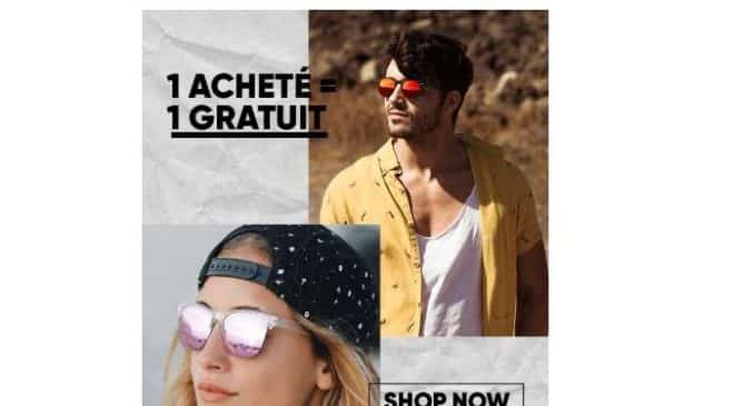 1 paire de lunette de soleil Northweek gratuite pour 1 achetée (soit les 2 à partir de 25€)