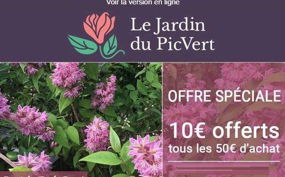 10€ de remise sur Jardin du Pic Vert
