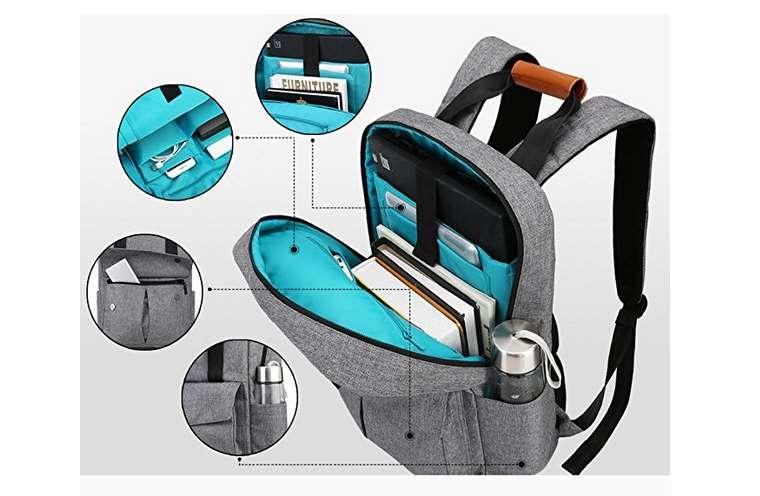 19,99€ le sac à dos pour ordinateur 15,6' poigné cuir Reyleo