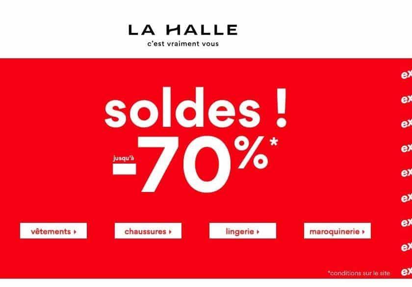 2 articles en soldes sur La Halle achetés