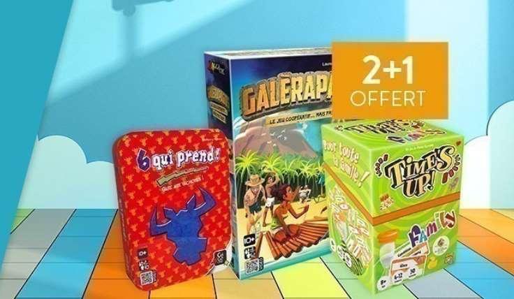 2 jeux de société achetés = le troisième gratuit