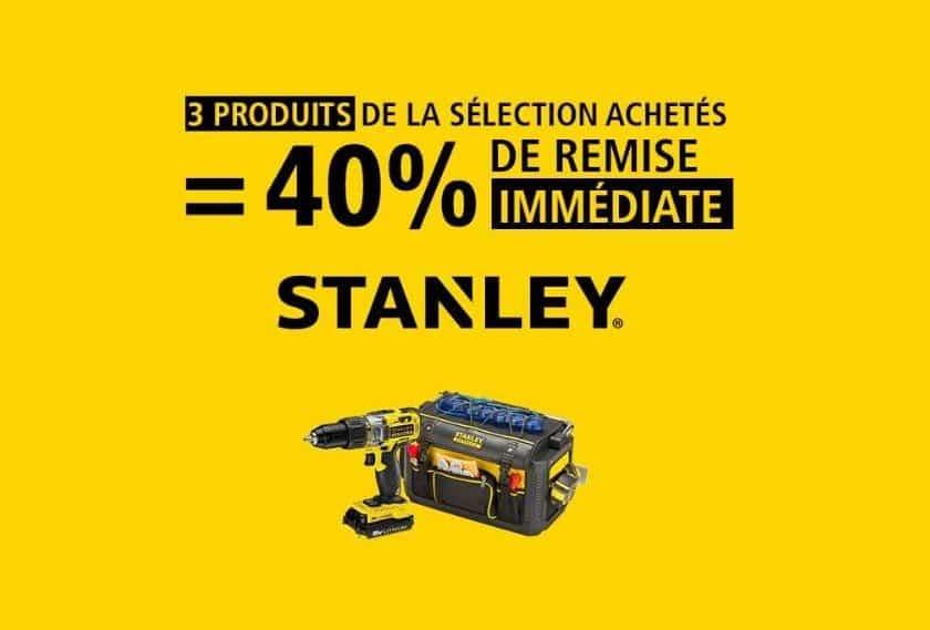 3 articles Stanley achetés = 40% de remise