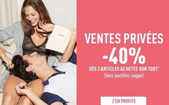 -40% dès 2 articles DIM achetés