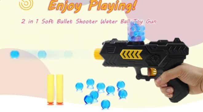 4,78€ le pistolet 2 en 1 fléchettes en mousse et billes d'eau