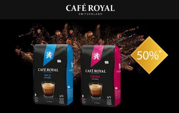 50% sur les cafés en grain Café Royal 1Kg
