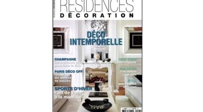 Abonnement magazine Résidences Décoration pas cher