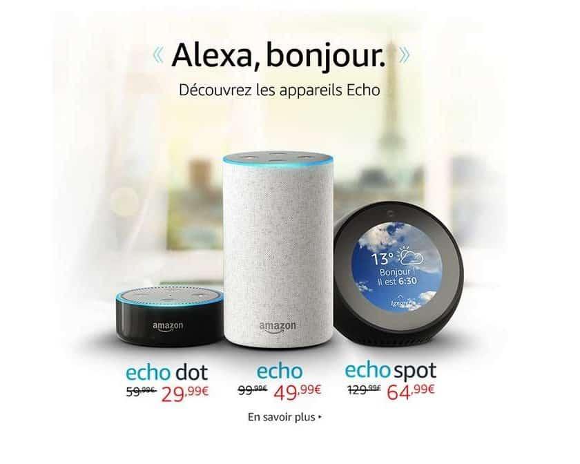Alexa Amazon moitié prix pour le lancement en France
