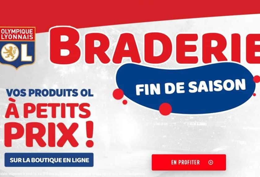 Braderie Olympique Lyonnais produits OL à prix réduits