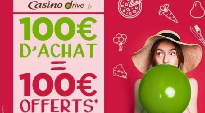 Casino Drive 100€ d'achat 100€ offert