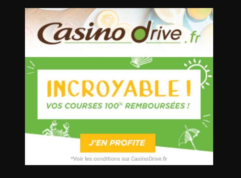 Casino Drive 100€ d'achat = 100€ offert