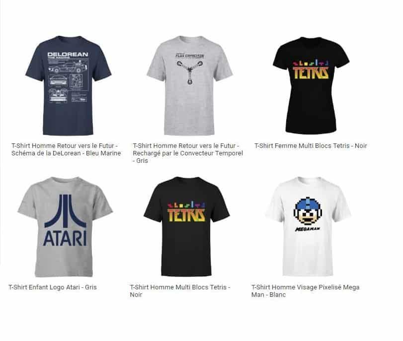 Offre flash T-shirts Retro (Tetris, Atari, Zelda, Retour vers le futur…)