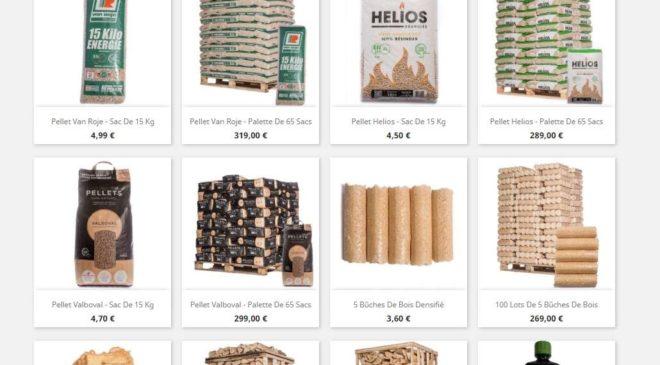 Remise Bois Energie Nord vente en ligne de bois de chauffage, pellets et bois densifié