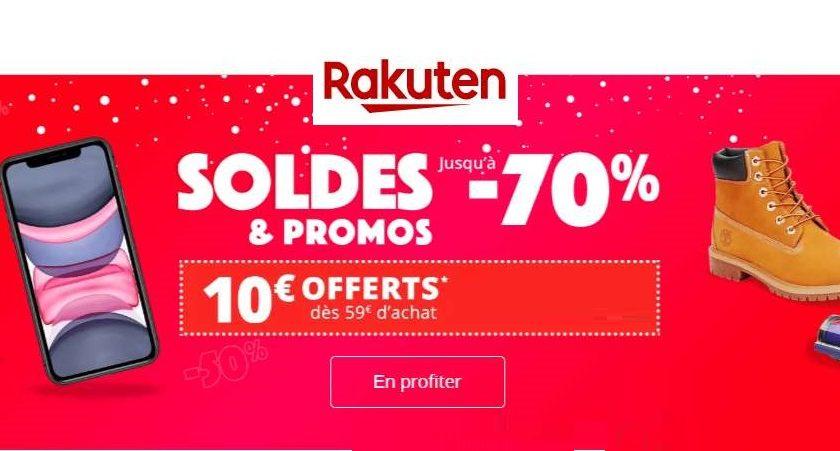 Soldes Rakuten 10€ De Remise à Partir De 59€ Sur Tout