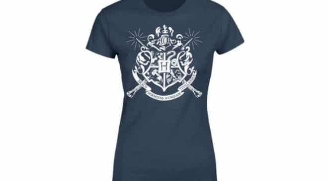T-shirt Harry Potter officiel Emblèmes des Maisons de Poudlard