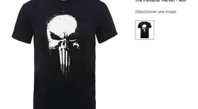 T-shirt officiel The Punisher Marvel homme - livraison gratuite