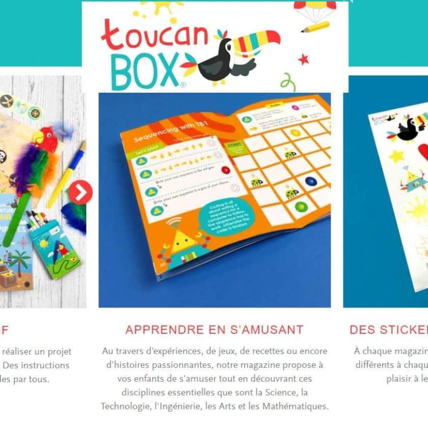ToucanBox offre 1 kit créatif pour enfant gratuit
