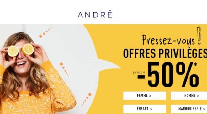 Vente privée André des pré-soldes