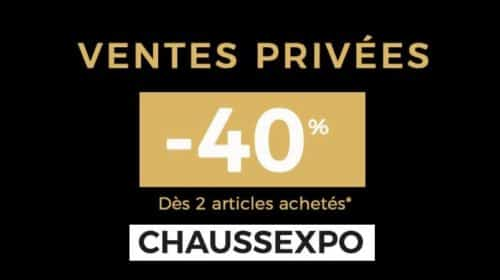 Vente Privée Chaussexpo 40% De Remise Dès 2 Articles