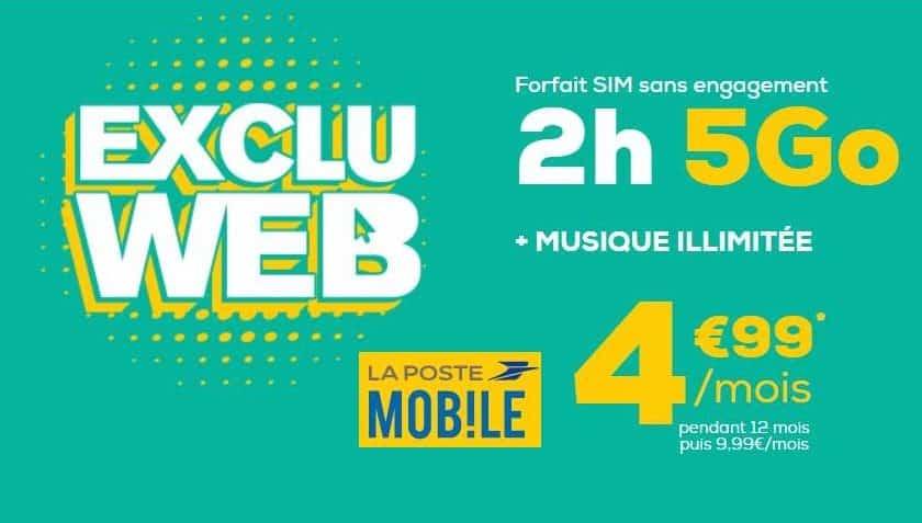 forfait 5Go La Poste Mobile musique illimitée