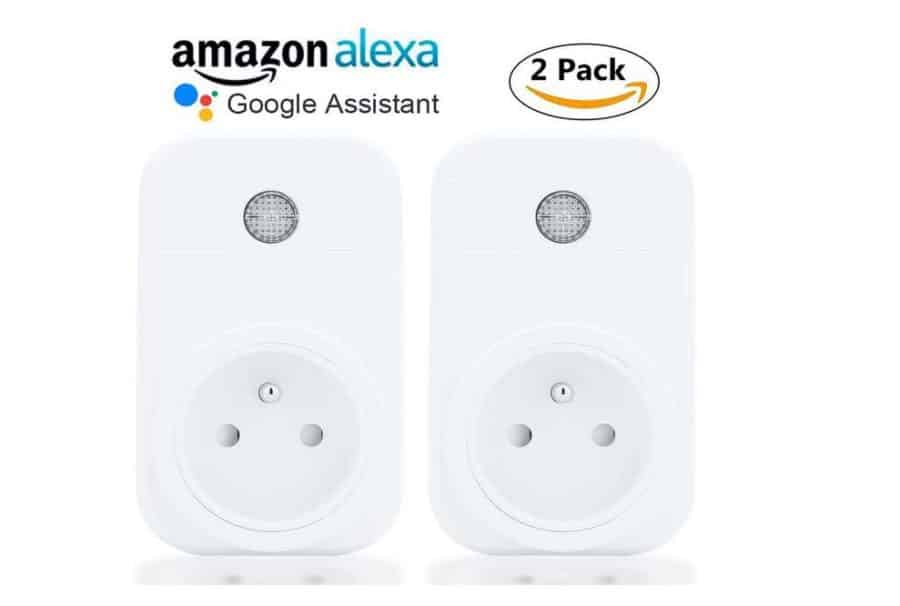 moins de 20 lot de 2 prises connect es annopsyche amazon alexa google home appli android ios. Black Bedroom Furniture Sets. Home Design Ideas