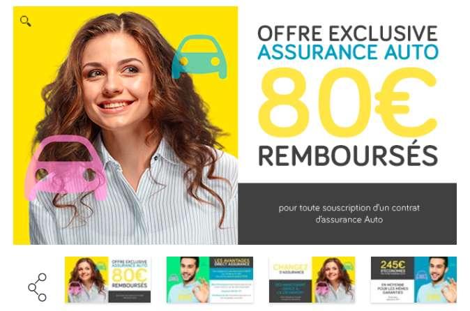 nouvelle assurance auto Direct Assurance 80€ remboursés