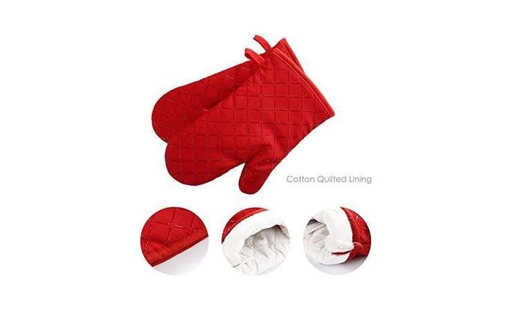 paire de gant de cuisine antidérapant anti-chaleur 240℃ Aicok