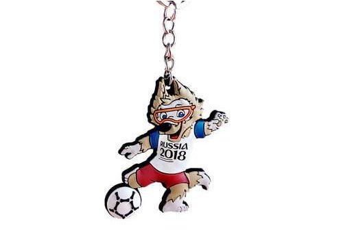 porte-clé mascotte Zabivaka coupe du monde Russia 2018