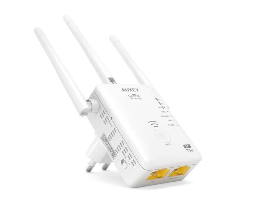 répéteur Wi-fi double bande jusqu'à 750Mbps Aukey WF-R7