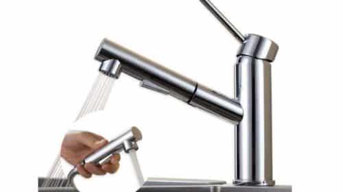 robinet avec douchette extractible 2 jets pour cuisine ou salle de bain
