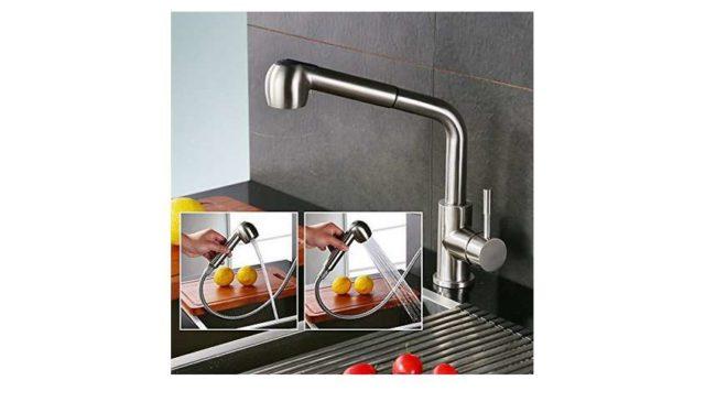 robinet pour évier avec douchette extractible de cuisine Homelody