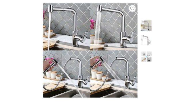soldes robinet mitigeur de cuisine avec douchette extractible Homelody