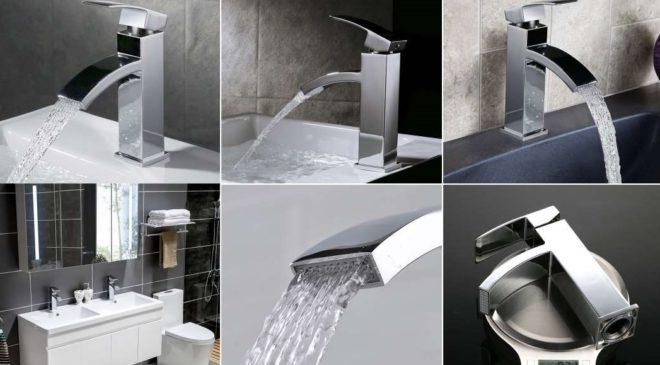 vente flash robinet salle de bain effet cascade chromé Homelody