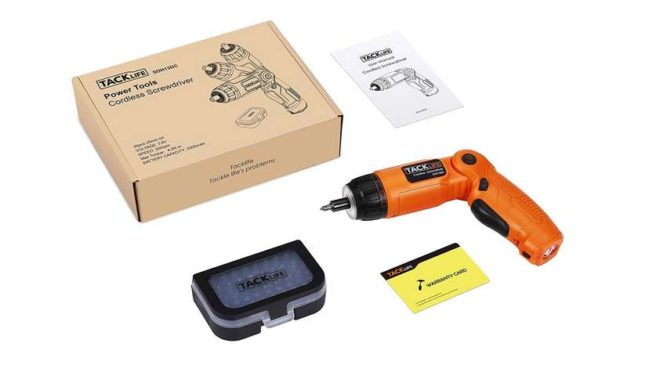 visseuse sans fil 6 vitesses Tacklife lithium-ion 3.6V + coffret 30 embouts