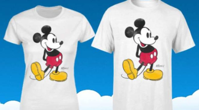 10,99€ le T-shirt Mickey Mouse officiel enfant, homme ou femme