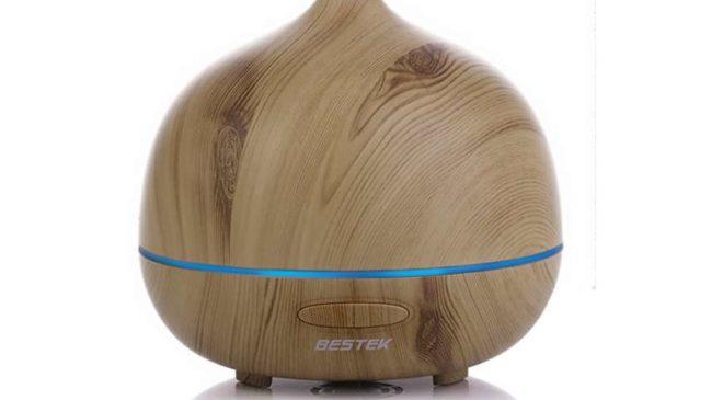 7,99€ diffuseur huile essentielle Ultrasonique avec bande lumineuse BESTEK
