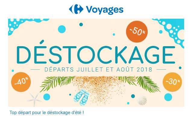 Déstockage Vacances de Carrefour Voyages
