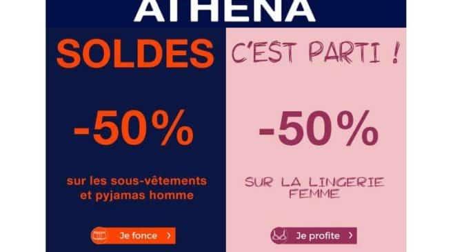 Soldes Athena Tout à -50%