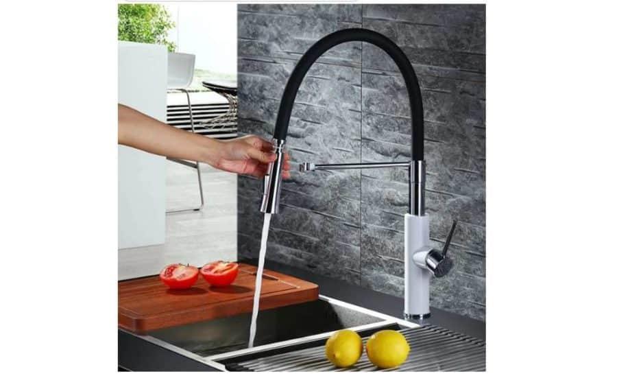 soldes 53 99 robinet mitigeur avec douchette en silicone. Black Bedroom Furniture Sets. Home Design Ideas