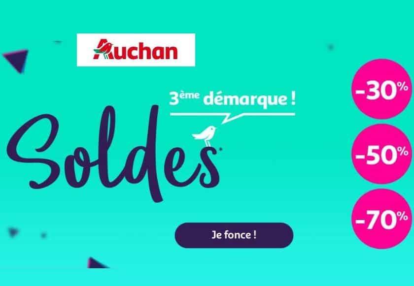 Troisième démarque des soldes Auchan
