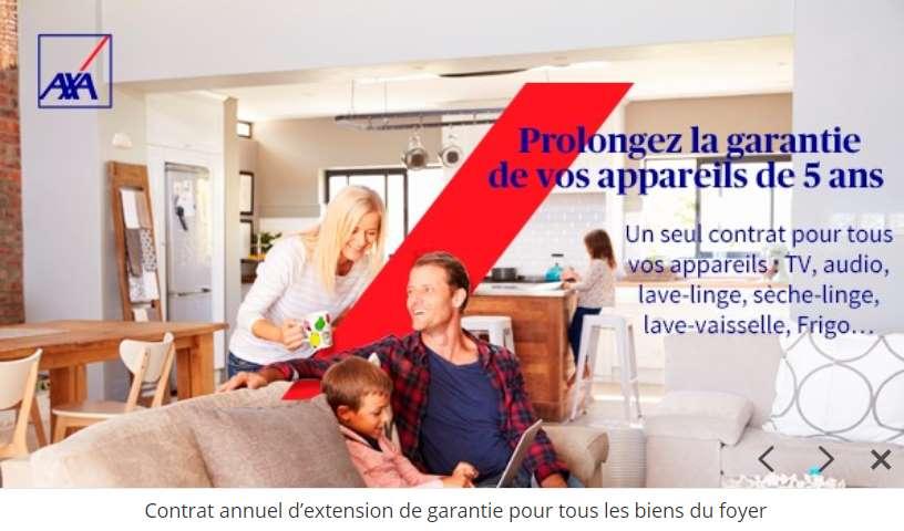Vente Privée Axa Assistance contrat extension de garantie