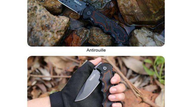 couteau pliant de poche manche alu et lame acier Tacklife FK03 pas cher