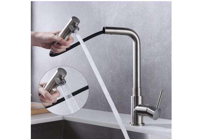 mitigeur évier de cuisine avec douchette extractible Homelody