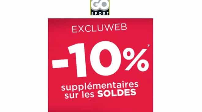 10 de remise suppl mentaire sur les soldes go sport. Black Bedroom Furniture Sets. Home Design Ideas
