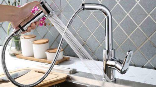 robinet mitigeur de cuisine avec douchette extractible Homelody