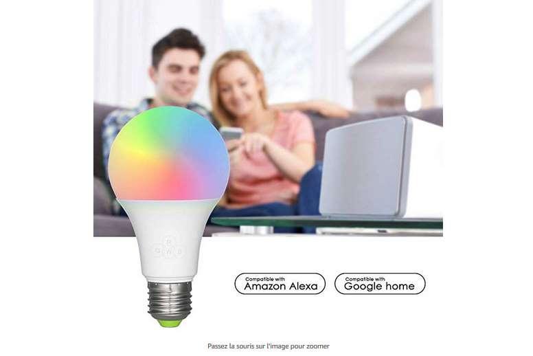12,29€ ampoule LED connectée Smart Bulb Wi-Fi 16 millions de couleurs