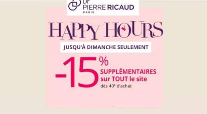 15% de remise sur le site Dr Pierre Ricaud