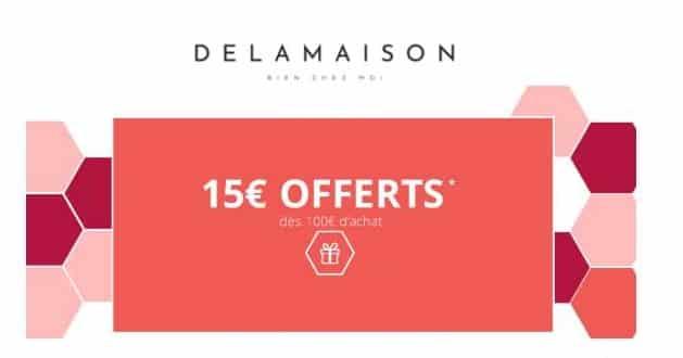 15€ de remise sur Delamaison