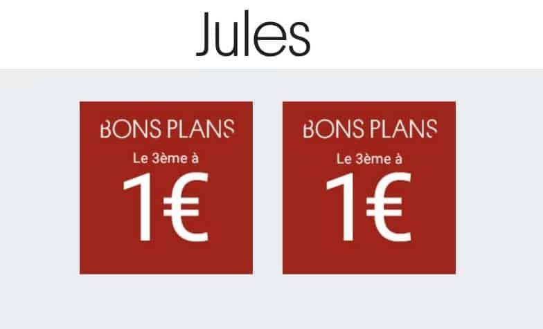 2 articles prix rond Jules 3ème à 1€